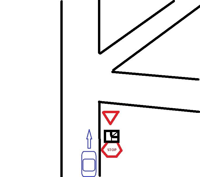 где останавливаться перед знаком уступи дорогу
