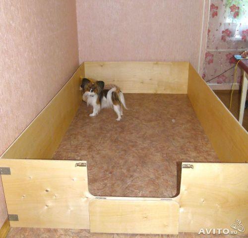 Как сделать загон для щенка в квартире