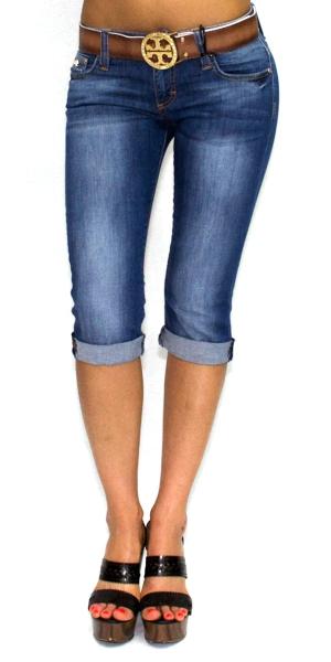 Как из джинсов сделать бриджи своими руками