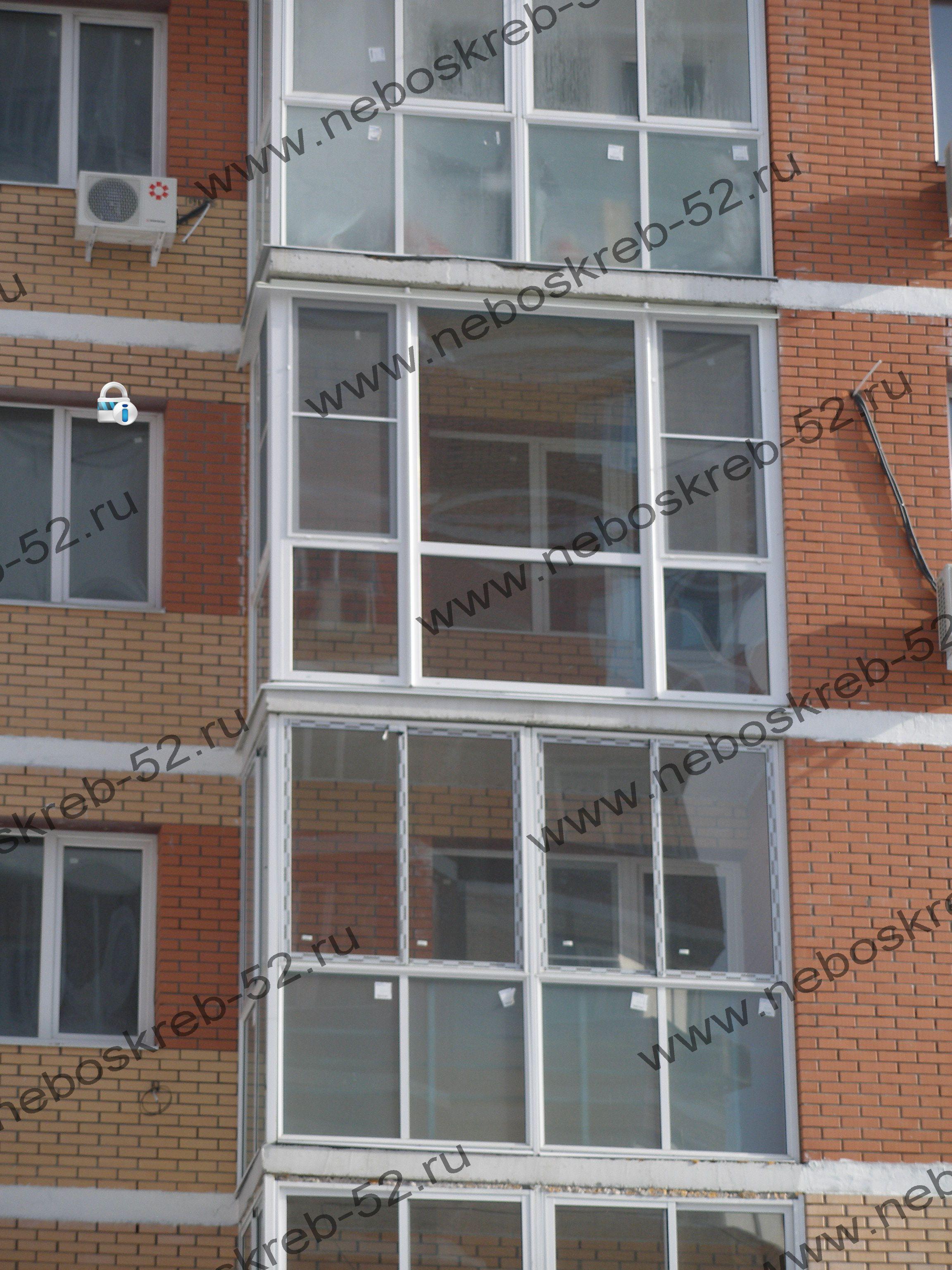 Застекление балконов пластиком, остекление алюминием. отделк.