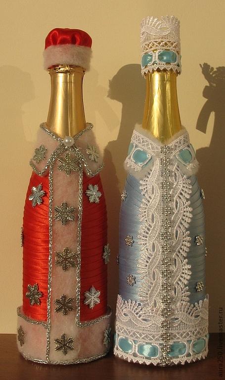 Своими руками шампанское дед мороз фото