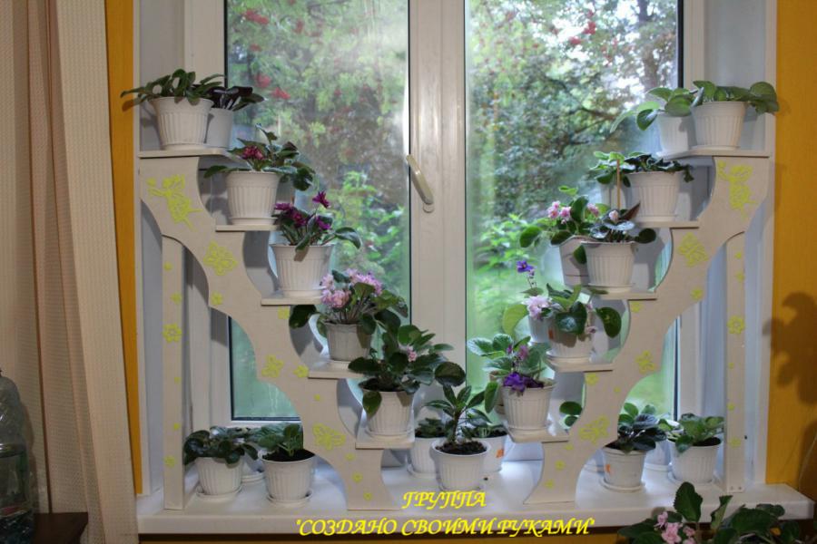Как сделать полку для рассады на окне