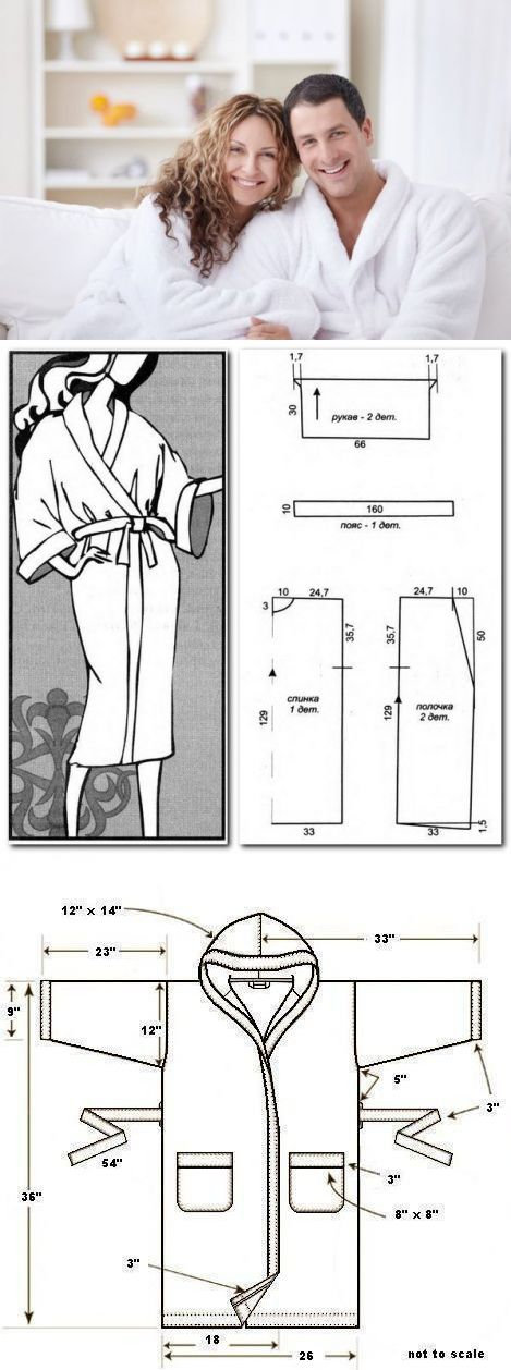 Как сшить халат своими руками быстро и выкройки 40