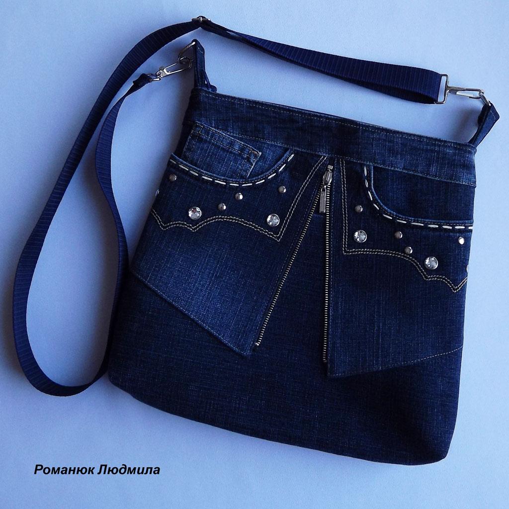 Как сшить из старых джинс сумки сумочки 71