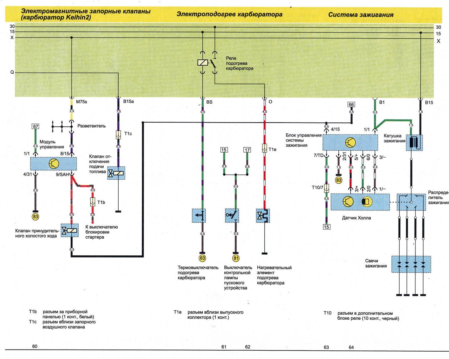 Схема подключения датчика температуры ауди 80 б3