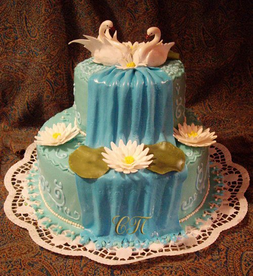 Как сделать торт водопад