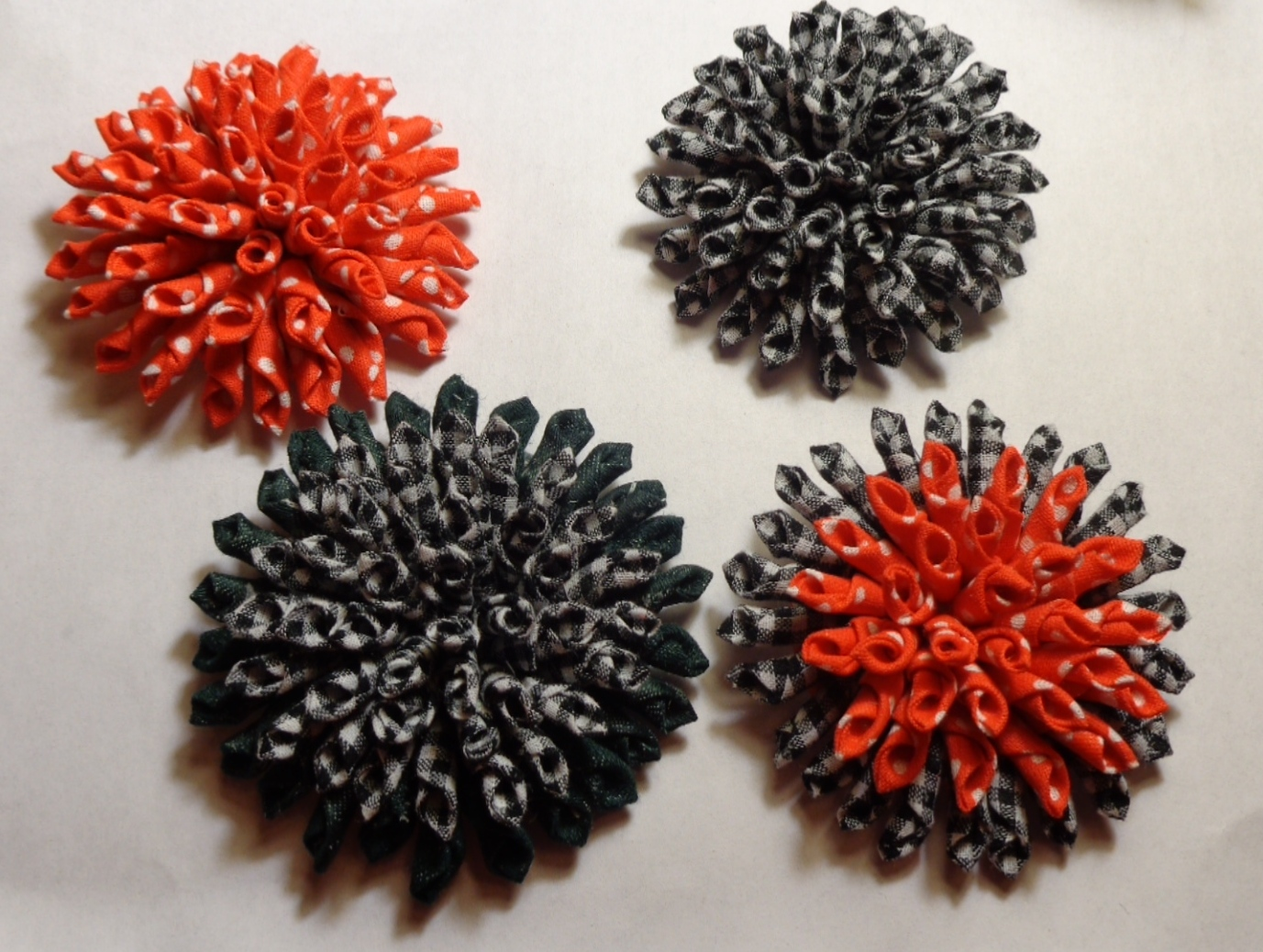 "Астра из ткани ""Снежинка"" Vortex Flowers"