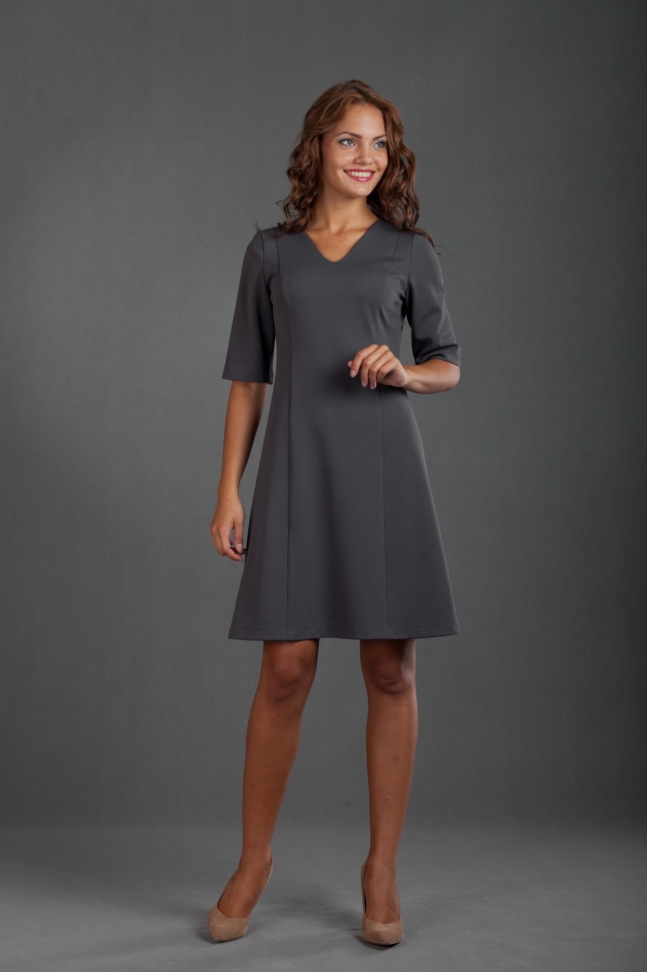 Фото платье трапеция с рукавами 4