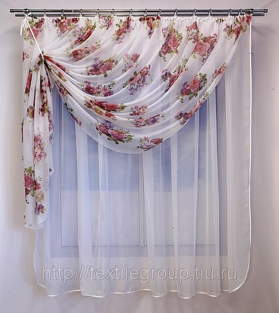 Как сшить шторы из вуали для кухни своими руками