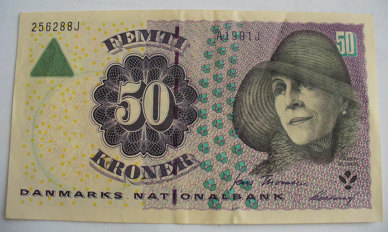 50 крон дания 2012г unc!
