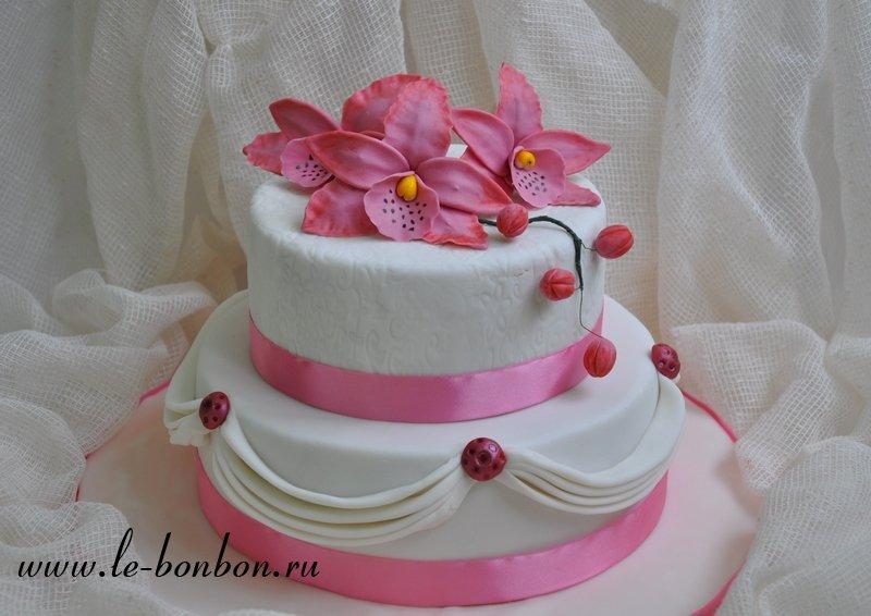 Торт двухярусный на юбилей фото