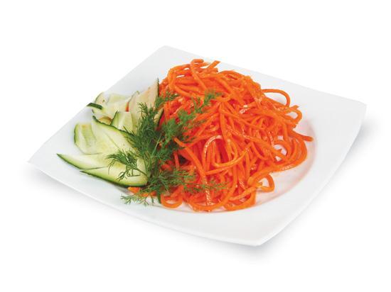 Салаты с морковью по-корейски с