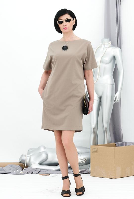 Платье прямого покроя для полных своими руками