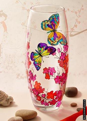 Как раскрасить напольную вазу