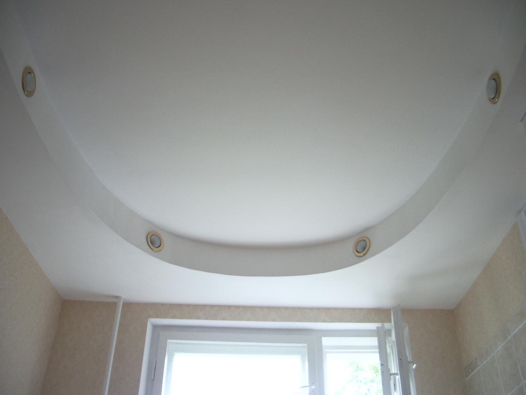 Потолок из гипсокартона видео овалом