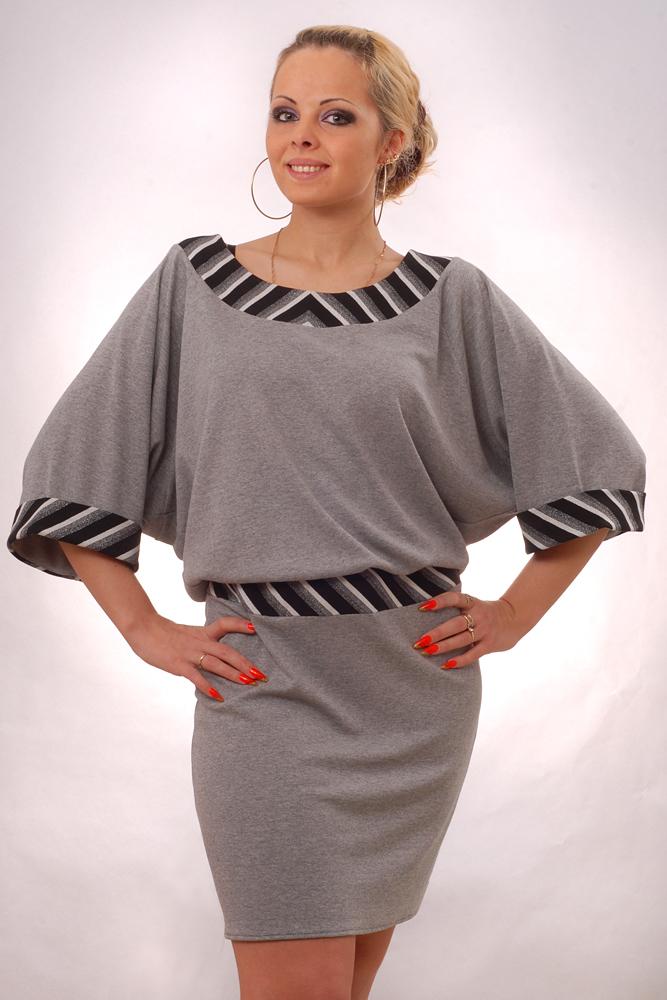 Трикотажное платье большого размера своими руками 8