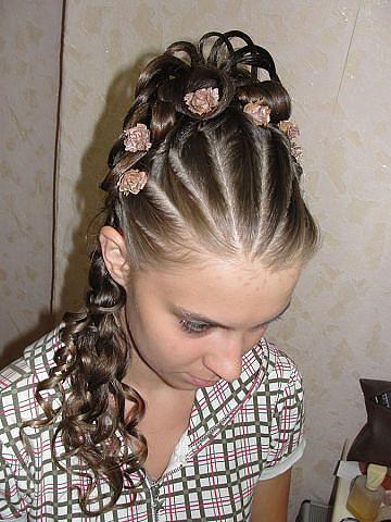 Прически с жгутами на средние волосы