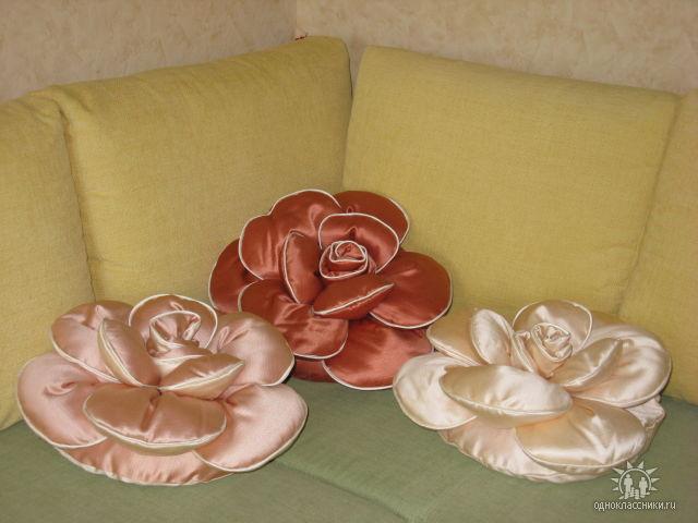 Мастер класс диванные подушки роза своими руками
