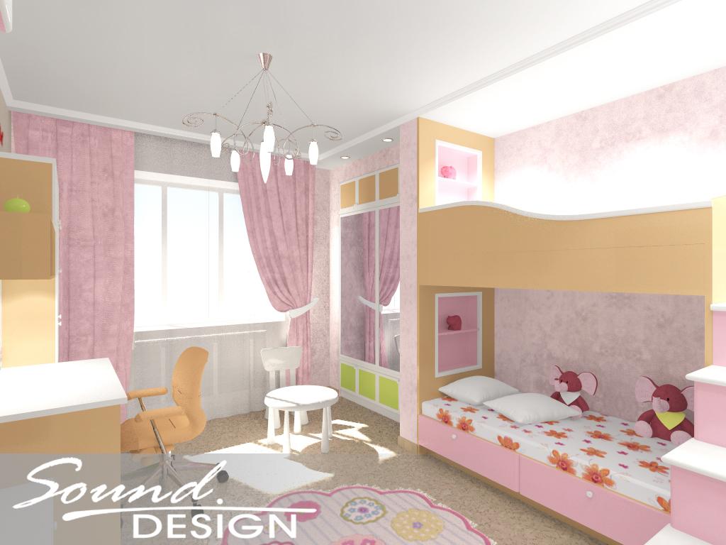 зона Лучшие дизайн детской для девочки на 14 кв м деле