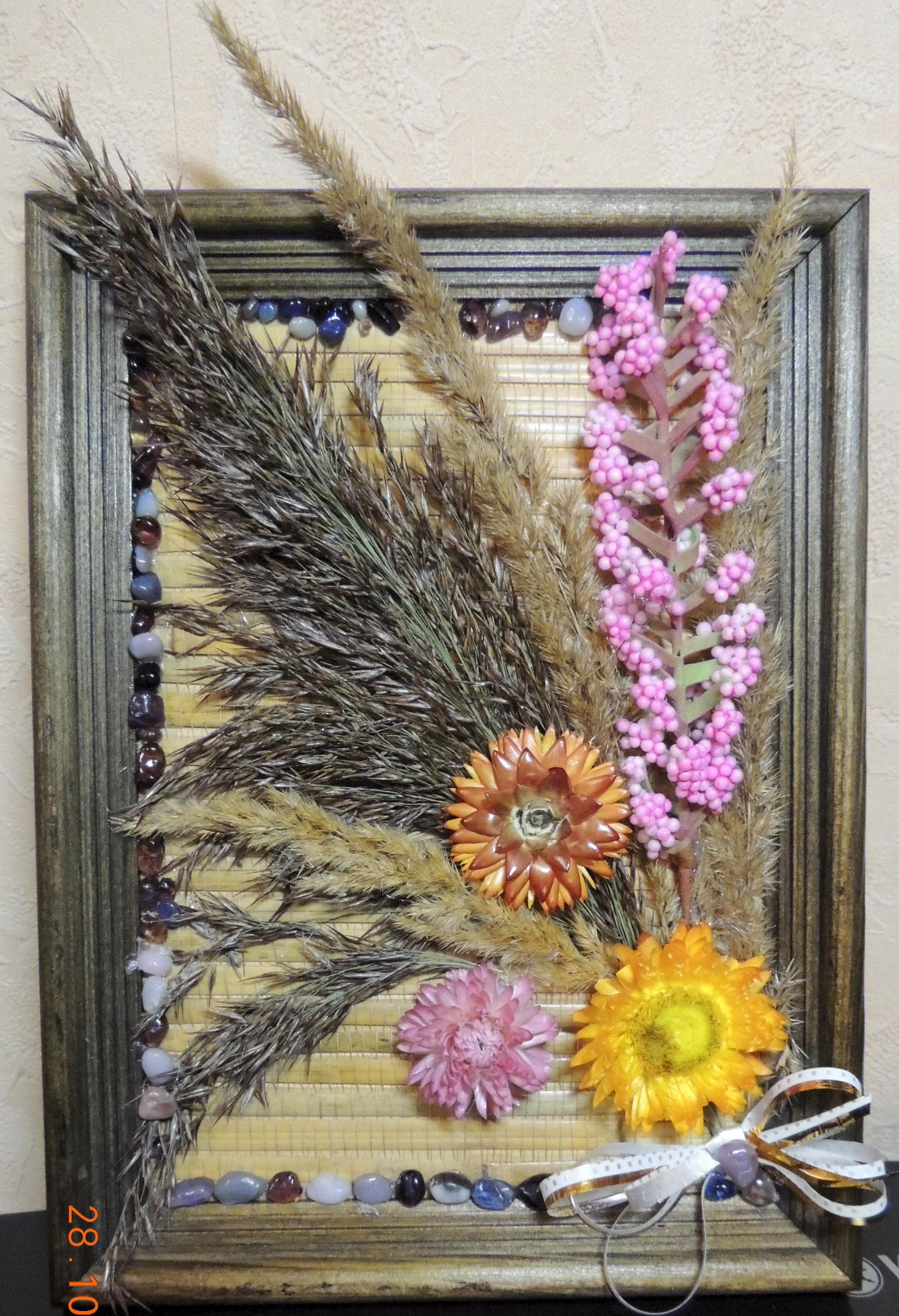 Поделка из цветов сухих 384