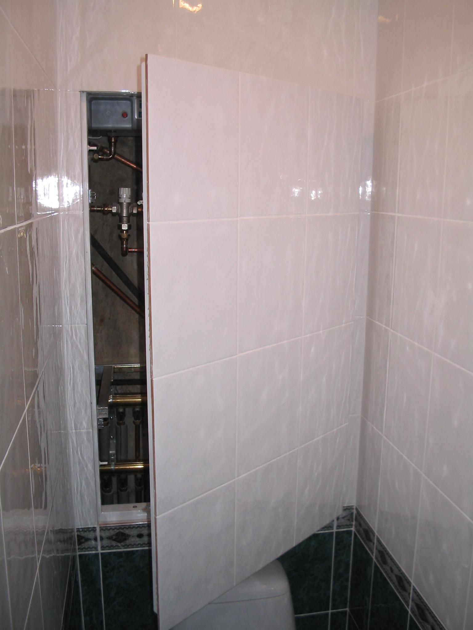Установить люк в туалете своими руками 5
