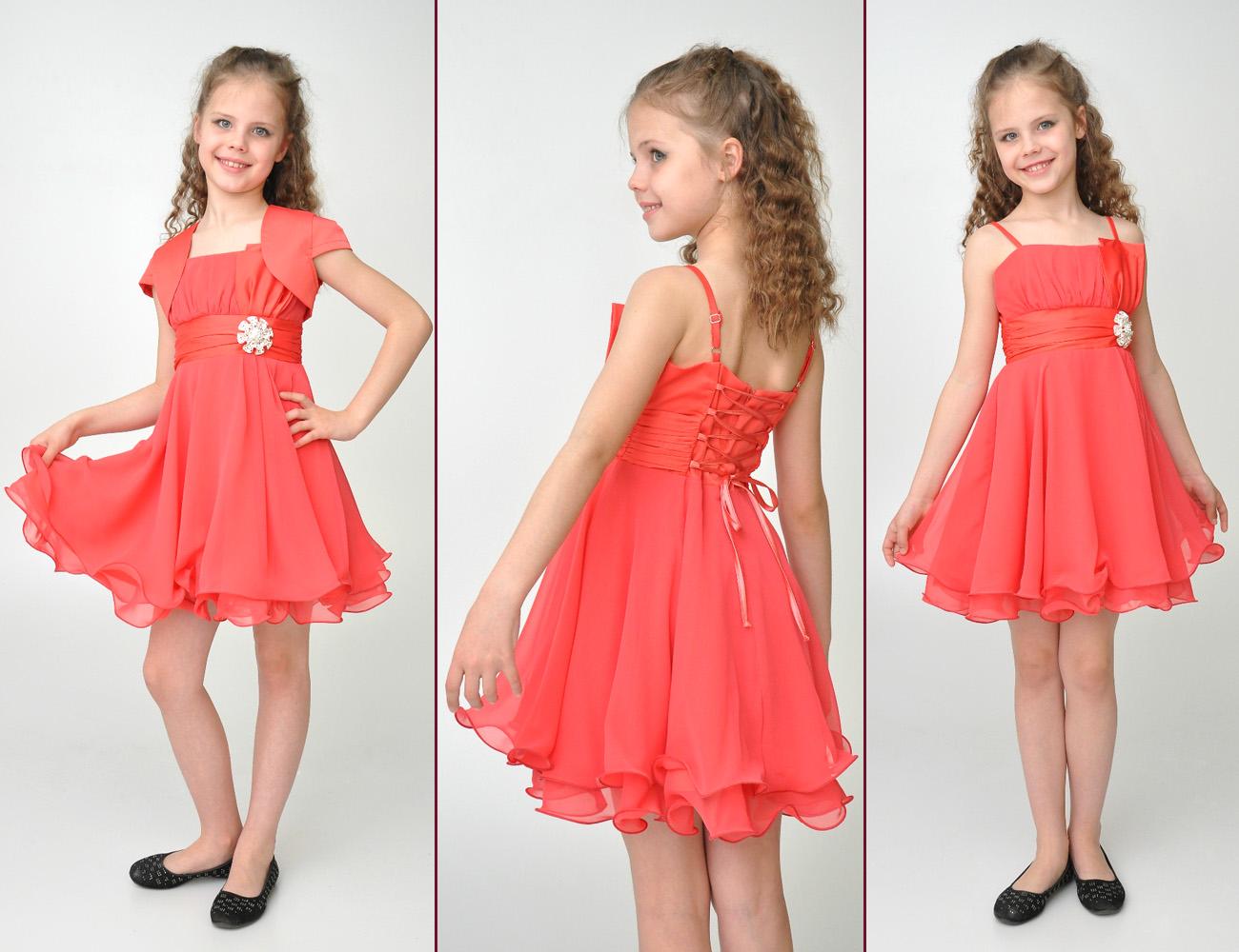Платья из шифона для детей фото