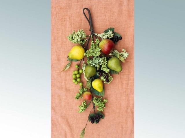 Поделки из искусственных овощей и фруктов фото 50