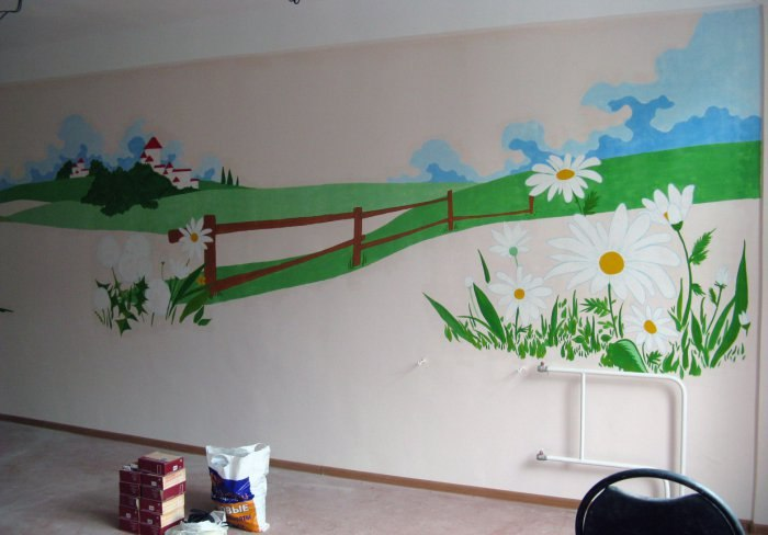 Оформление стен в детском саду своими руками фото
