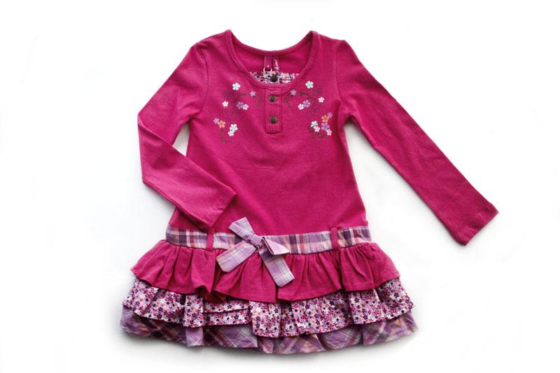Платье трикотаж для девочки своими руками