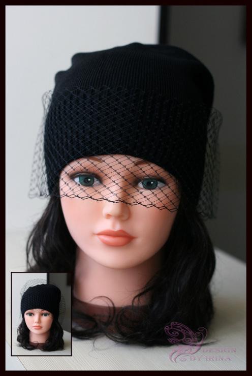 Вуалька на шапку своими руками
