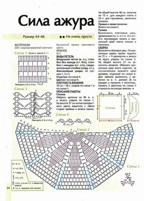 Схемы вязания болеро крючком для полных