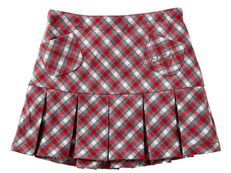 Юбка для девочки со складками