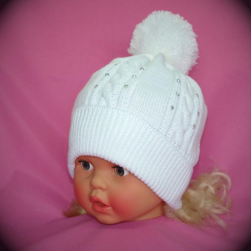 вязаные шапки для девочек 5-6 лет схемы