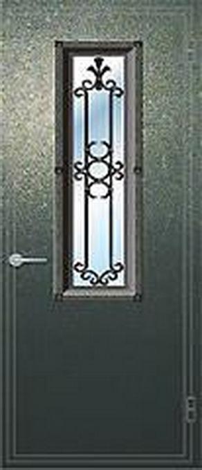 наружные металлические двери со стекла