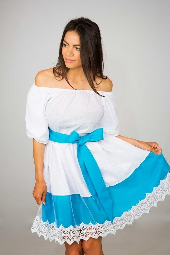 Платья короткие фонарики