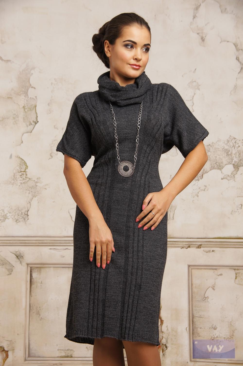 Вязаные платья из шерсти фото