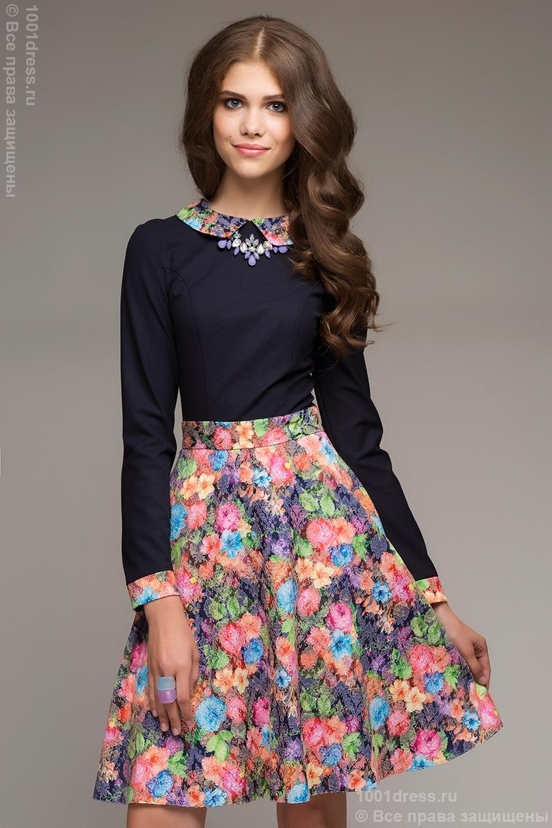 фото девушек юбки из цветов