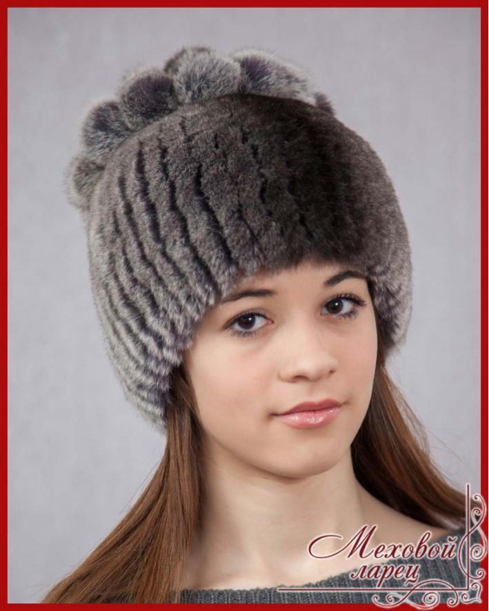 Вязанная шапка из
