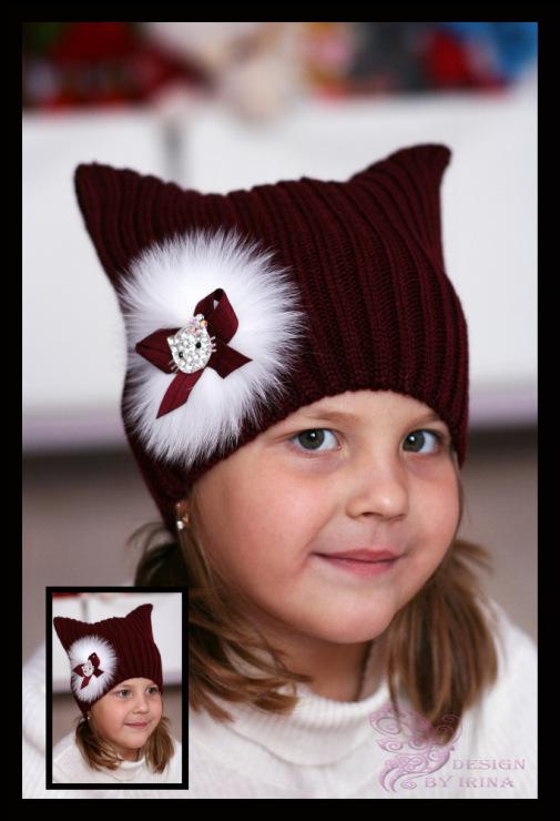 Украсить шапку своими руками детскую