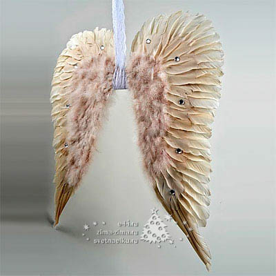 Как сделать крылья птицы из перьев
