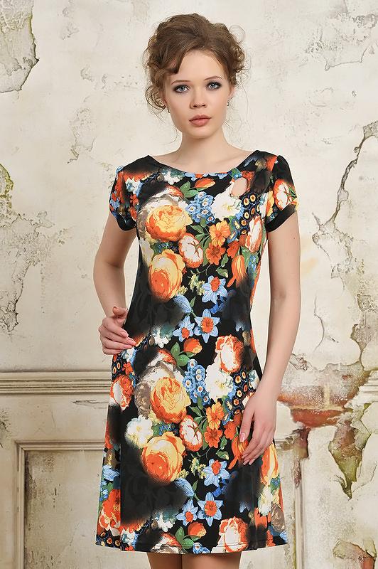Фото платьев с цветным принтом