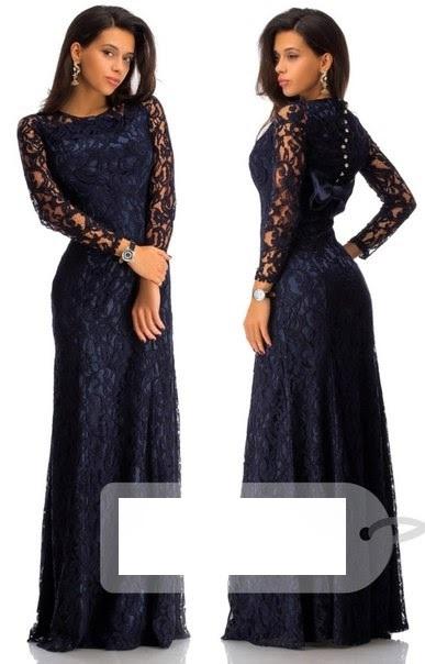 Фото длинной гипюровой платье