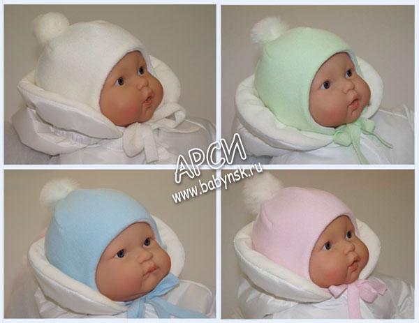 Сшитая шапка для новорожденного 768