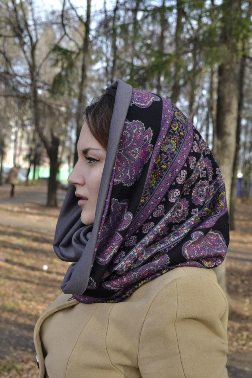 Трикотажный платок своими руками