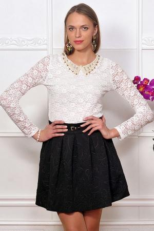 Юбка Кружевной Блузкой