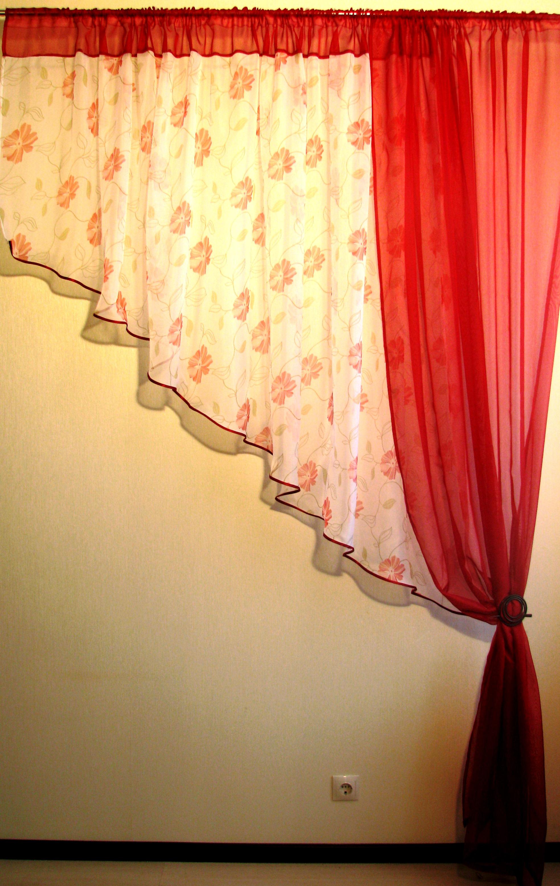 Мастер класс: как сшить шторы для кухни своими руками с выкройками 27