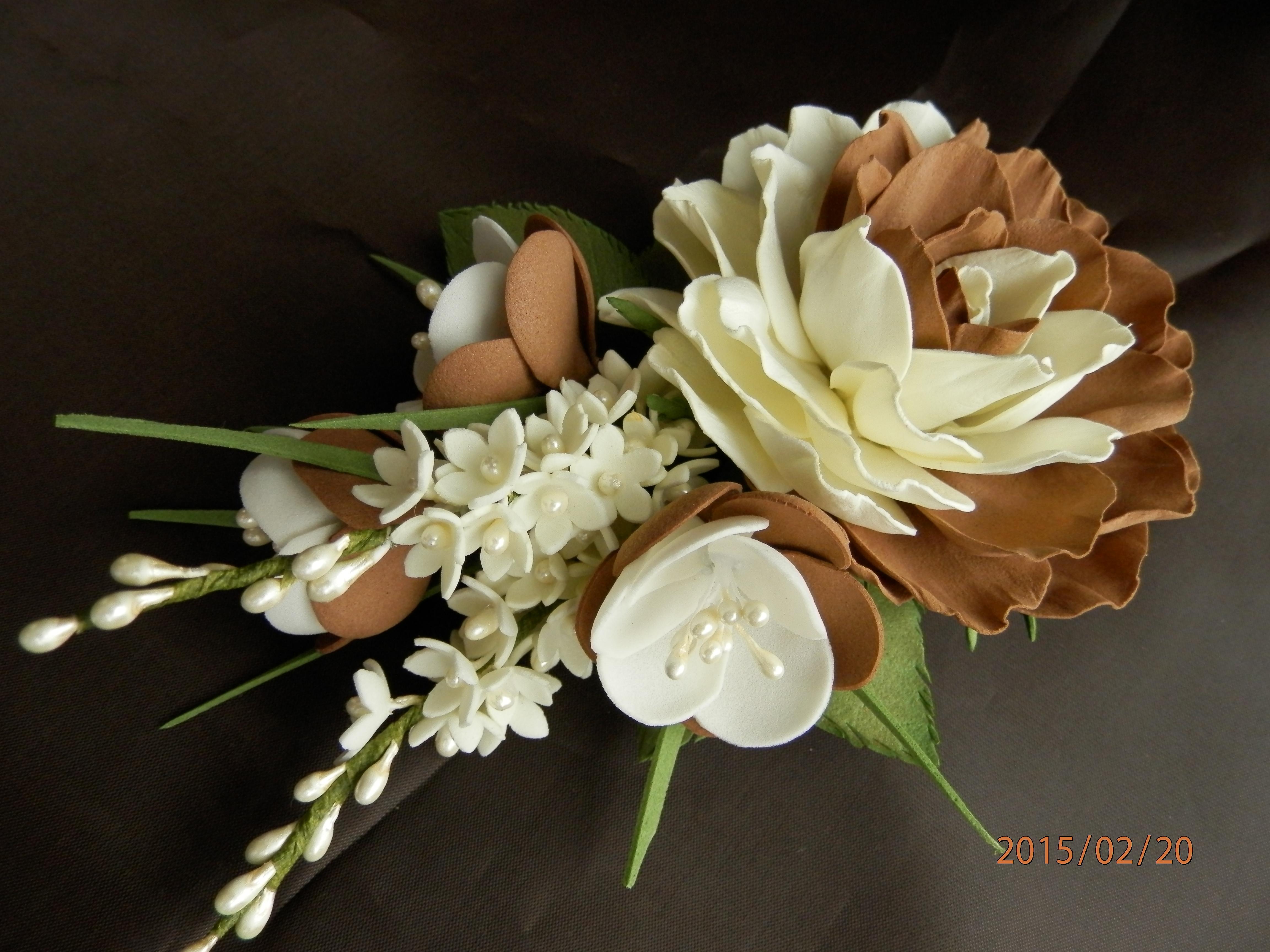 Заколки с цветами из фоамирана мастер класс с пошаговым