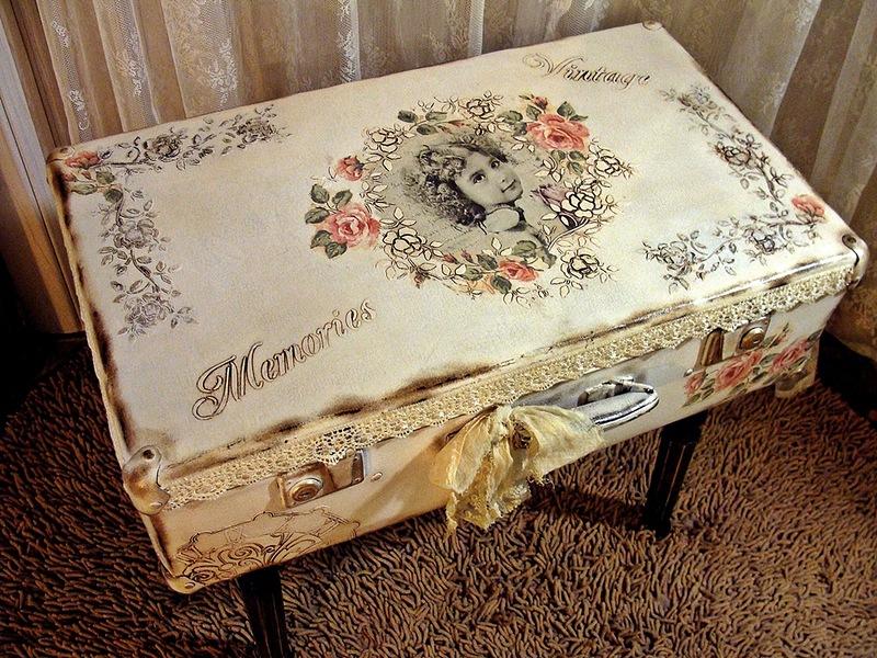 Декор из старого чемодана своими руками