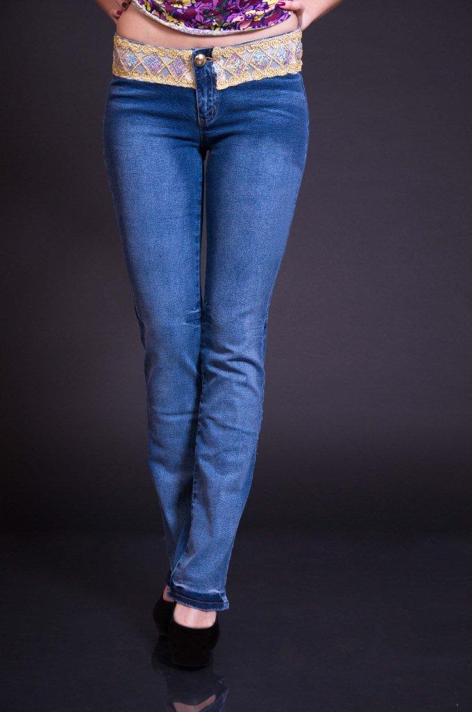 джинсы женские с высокой талий