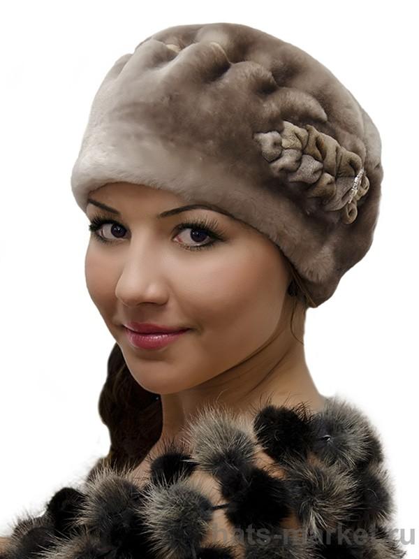Женские шапки из мутона своими руками